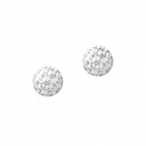 Golf Goddess Golf Ball Bead Earrings - Silver